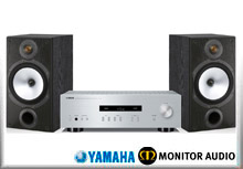 Yamaha A-S201 + Monitor Audio MR2